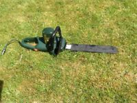BLACK AND DECKER CHAINSAW - NEARLY NEW