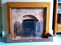Fireplace surround and copper fender