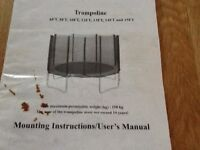 8ft Trampoline , good condition , selling due to house move.
