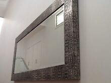Embossed silver frame mirror Grays Point Sutherland Area Preview