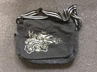 Unicorn grey Demin Day bag/Large Handbag