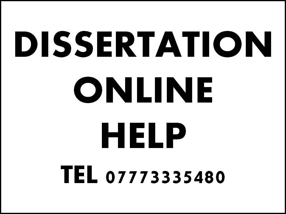 Proposal and dissertation help uk