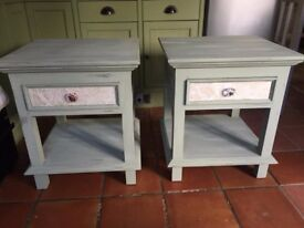 Upcycled bedside tables