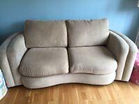 Cream 2 seater&3 seater sofa