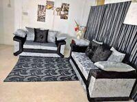 Stunning DINO Crush Velvet Corner Sofa or 3+2 Set - Amazing Colours Combinations