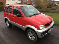 2002 02 Reg Daihatsu Terios SUV 1.3 EL 4 Wheel Drive, 5 Door, Petrol, Manual, 5 Door, Metallic Red