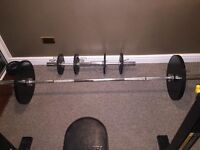 powertec weight bench and weights
