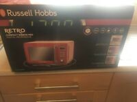 Brand New Russell Hobbs Red Retro Microwave - In Sealed Box - £50