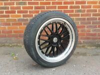 19 inch Staggered Bmw BBS LM Type Alloy Wheels and Tyres (e36,e46,330,Mv2,M3,e60