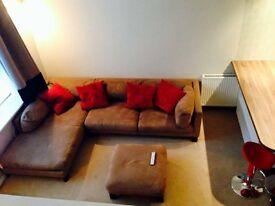 Corner Sofa L shape with foot stool