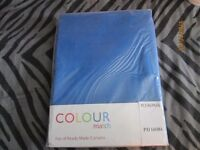 blue curtains brand new in packet size 46 inch wide x 72 inch drop living room or bedroom