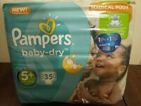 Pampers baby-dry 5+ /13-25 kg/ nappies