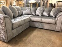BRAND NEW LIVERPOOL CRUSH VELVET AVAILABLE IN 3+2 & CORNER SOFA CASH ON DELIVERY FACTORY PACKED
