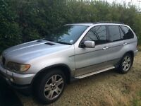 BMW X5 silver, automatic, private plate, mot 11 /2017, new front tyres,