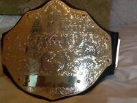 Child's world heavyweight wrestling belt