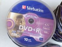 Verbatim DVD+R Lightscribe - print on disc - sealed, collect Eccles on Sea