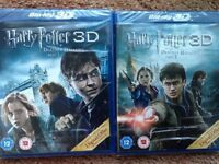 Harry Potter & the Deathly Hallows 3D Blu - Ray discs