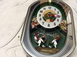Seiko Melodies In Motion Musical Wall Clock --Baseball Musical Clock