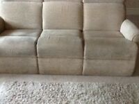 3 seater sofa and two chairs