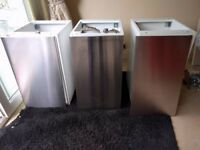 Ikea Kitchen wall units with stainless doors ( have 3)