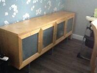 Sideboard maple colour (IKEA) 195cm wide 40cm depth 76.5cm high £50 ono