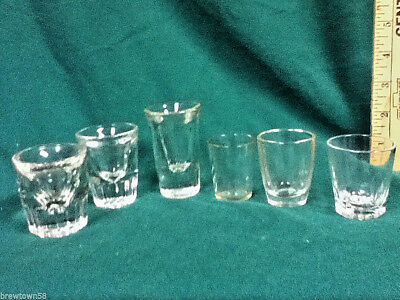 Unique shot glasses 6 clear glass plain shots shooters barware glassware AX5