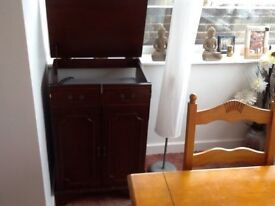 Beautiful!!! ...record player unit ......with two matching stand up speakers