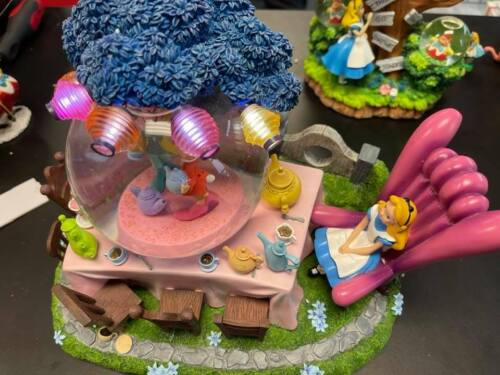 """Disney Alice In Wonderland Tea Party Snow Globe """"All In The Golden Afternoon"""""""