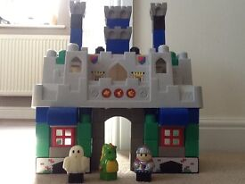 Mega Bloks build and play castle with figures and sound buttons