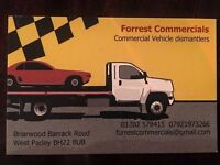 Forrest commercial vehicle dismantlers