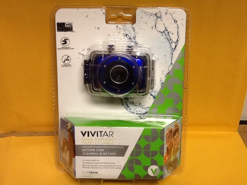 Vivitar Make a Splash Action Cam - HD Video - Blue -