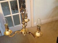 John Lewis Brass Chandelier with new bulbs