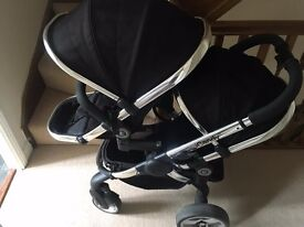 Icandy Peach2 Doubly Pram in Black
