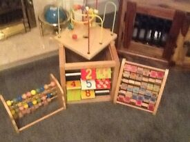 Wooden ELC toys numbers and alphabet