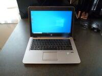 HP Elitebook 820 G3 laptop. Intel Core i5-6300U, 8GB RAM, 256GB SSD, 12.5 Inch Full HD. Win 10