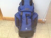 Used lightly and in excellent condition Eurohike 55 litre capacity-thick straps&abet,rain cover