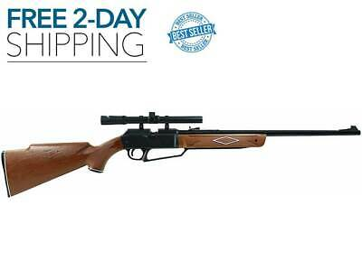 PELLET BB GUN AIR RIFLE 4x15mm SCOPE 750 FPS .177 Cal Hunting Daisy NEW 2-DAY ()