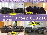 BRAND NEW LEATHER OR FABRIC CORNER OR 3+2 SOFAS S