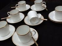 Limoges coffee cups and saucers