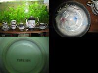 Japanese Dragon Lithopane Tea Coffee Set Hand Painted