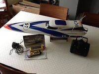 Radio controlled electric powered racing boat