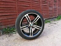 18 inch Bmw M6 Type Alloy Wheels and Tyres..(fit E36,E46,Mv2,E34,1 series,bbs,m3,328i,split,mv)
