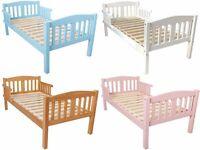 Toddler beds Kids Children's Junior 5 Colours BRAND NEW BOY GIRLS (mattress Available)