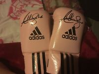 Signed Anthony Joshua gloves
