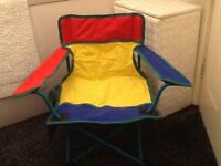 Childs folding chair with carry bag perfect condition hardly used