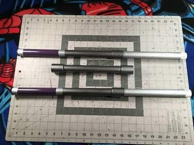 Gambit collapsible Bo staff 5.6' double silver carbon fiber grip Marvel X-men - Gambit Kostüm