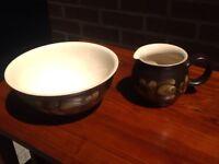 Vintage Denby Bakewell - mixing bowl & jug