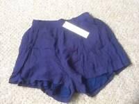 Brand new women's shorts blue size 10