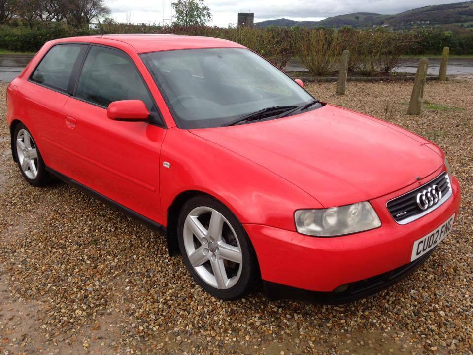 audi a3 1 8t quattro 180 bhp 3 door hatchback in red 2002 with 121k and 12 months mot in. Black Bedroom Furniture Sets. Home Design Ideas