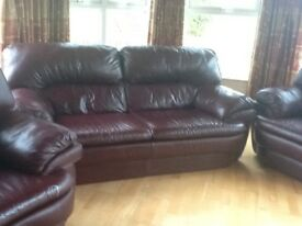 Sofas, Hall table, side board and table and chairs all in great condition